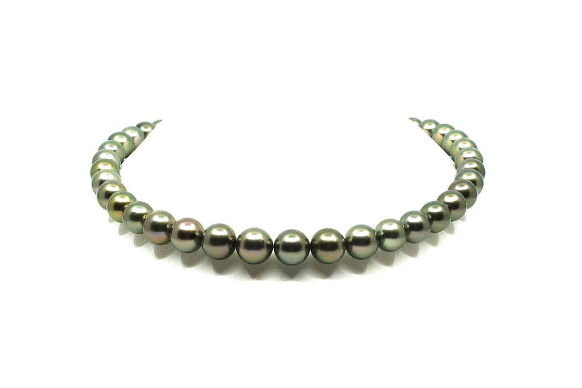 8-10mm Black Tahitian Peacock Pearl Necklace