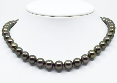 Black Tahitian Pearl Peacock Necklace