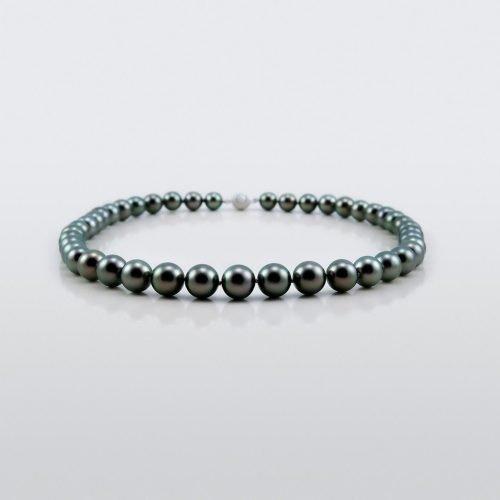 Black Tahitian Pearl Necklace Asteria