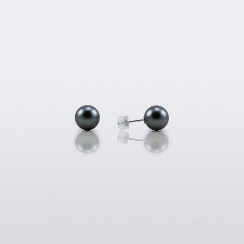 Black Tahitian Pearl stud earrings selene