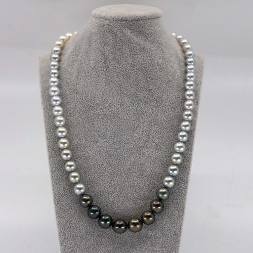 pearl ombre necklace with tahitian and south sea pearls