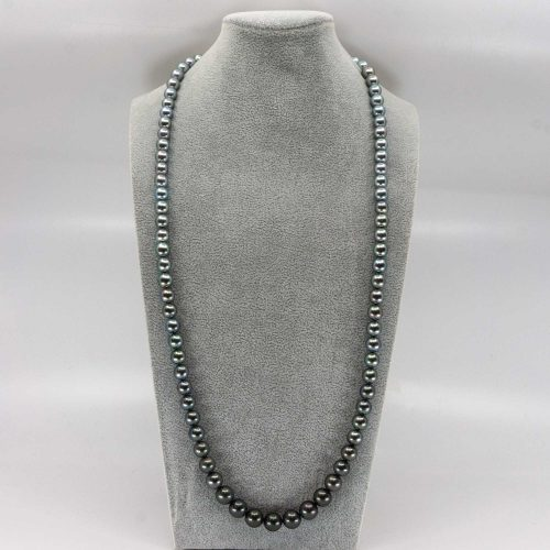 pearl ombre necklace with tahitian pearls